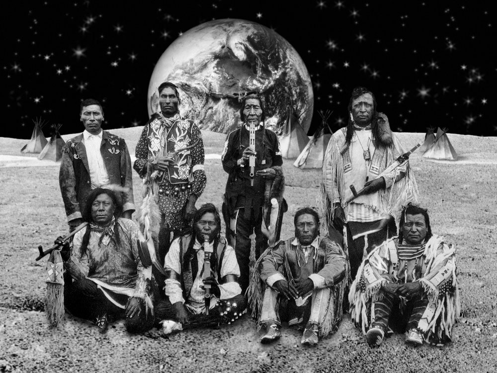 Native American Reservation on the Moon #1