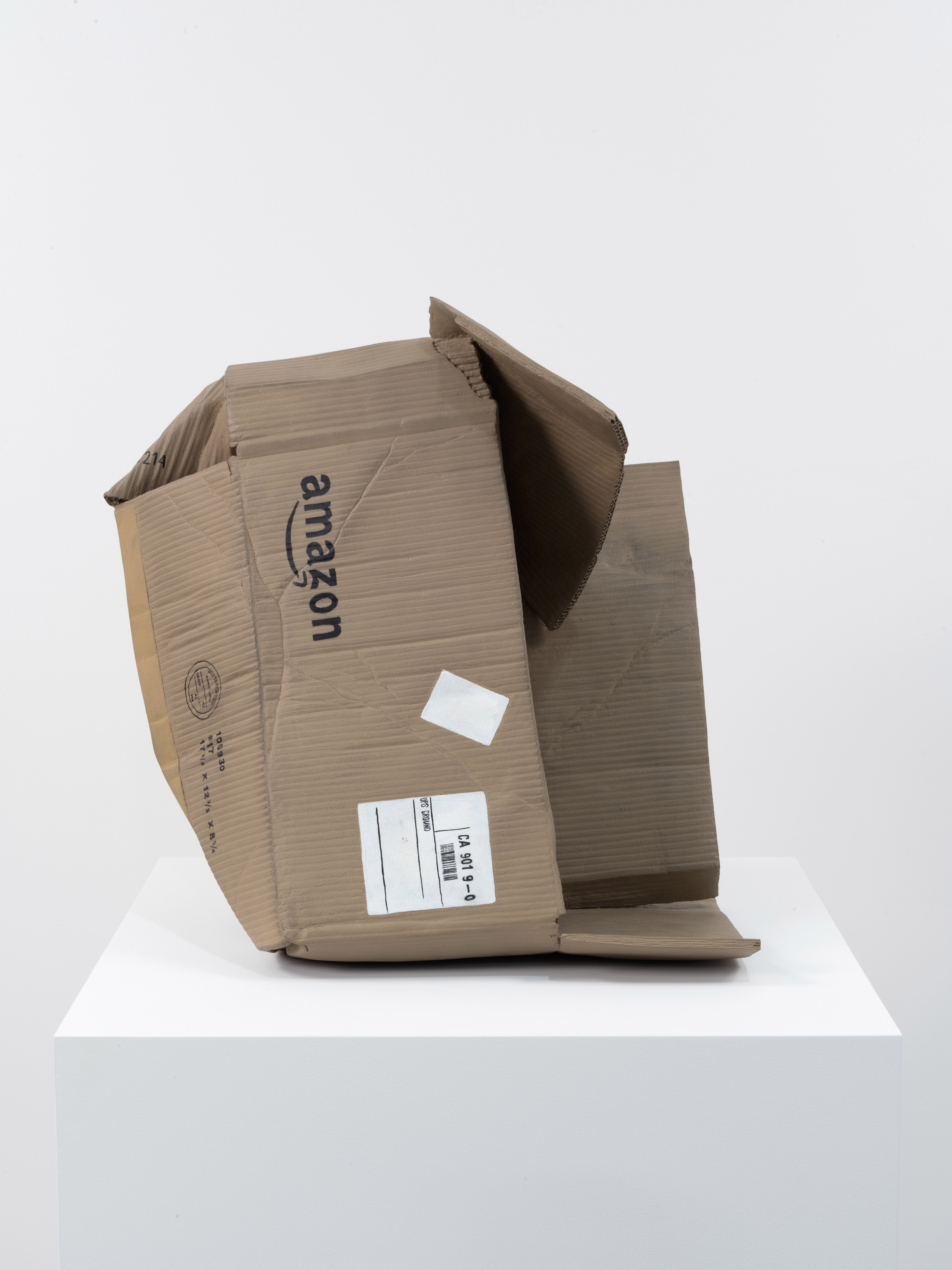 Crumbled Amazon delivery box